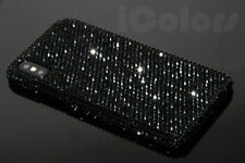 Bling Black Crystal Diamond Case Hard Cover For iPhone X W/H SWAROVSKI ELEMENTS