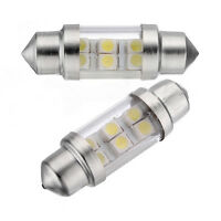 2X White 6 SMD 1210 LED 35mm Car Interior Festoon Dome C5W Light Lamp Bulb Y3S1