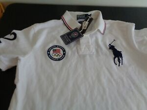 POLO Ralph Lauren 2012 Olympics UNITED STATES Shirt LARGE London NEW Free Ship