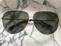 sass & bide : love of larache Light Gold aviator sunglasses -NEW- $189 AUTHENTIC
