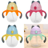 Sippy cup 250ml portable kid baby feeding drinking learn drinking handle bottle-