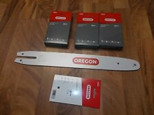 "16"" Oregon 164MLEA074 guide bar + 3 Chain Combo for (Stihl) MS 170,171, 180, 181"