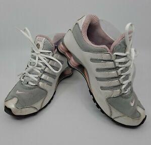 Nike Shox Womens 9 Running Training Shoes Pearl White Gray Dusty Rose 309206-016