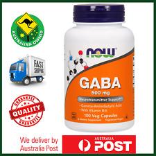GABA 500mg 100 Veg Caps NOW Foods - Stress & Sleep Support - Calming Agent