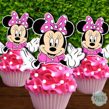 Fine Minnie Mouse Cupcake Toppers Products For Sale Ebay Birthday Cards Printable Trancafe Filternl