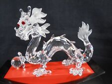 "Swarovski 1997 ""Fabulous Creatures"" Dragon Crystal Figurine with stand & case"