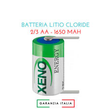 Batteria litio cloride 2/3 AA Mignon/ER14335/XL-055F/T1 - 1650 mAh - Lamelle
