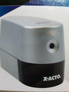 X-Acto Model 2000 Silver Electric Pencil Sharpener  New Open box