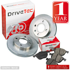 Vauxhall Carlton 2.3 D Estate 72 Front Brake Pads Discs 258mm Solid Tevs Sys