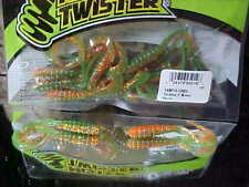"""Mister Twister 3"""" Tri-Alive Grubs 15 Pack TAMT15-128BG in PERCH- (Walleye/Perch)"""