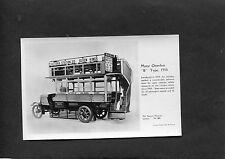 """C1960's Science Museum Card - Motor Omnibus """"B"""" Type 1910."""