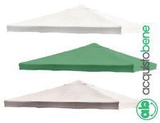 Telo copertura di ricambio per gazebo 3x3 o 3x4 mt bianco ecru verde poliestere