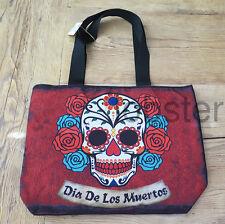 DAY OF THE DEAD DIA DE LOS MUERTOS DOD Large Tote Handbag Purse HALF PRICE SALE
