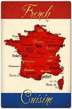 Paris French Cusine Map Metal Sign Tourism Advertising Kitchen Wall Decor 549