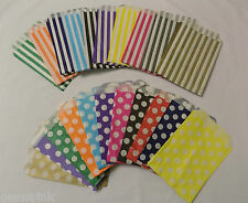 Candy Polka Dot - Stripe paper Sweet Gift Shop Party bags Weddings Birthday 5x7""