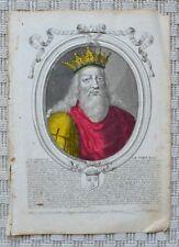 Gravure Originale XVIIème par Nicolas Ier de Larmessin - Clodion le Chevelu