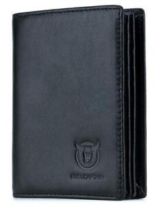 Large Capacity Genuine Leather Bifold Wallet Credit Card Holder Multi Card Slots