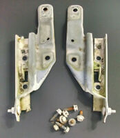 GM Left and Right HOOD HINGES Set, WHITE, Steel, 10305907, 10305906