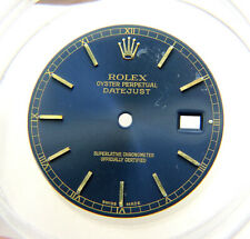 Genuine Rolex 36mm Datejust 16013 16233 116233 Blue & Gold Starburst Watch Dial