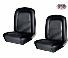 1967 Mustang Front Bucket Seat Upholstery- Pair- Black Made by TMI - IN STOCK!!