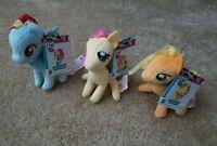 "(3) My Little Pony Friendship Is Magic Rainbow Dash,Fluttershy,Applejack,5""Plush"