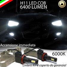 KIT LED AUDI A6 C7 LAMPADE H11 FENDINEBBIA CANBUS 6400 LUMEN 6000K NO AVARIA