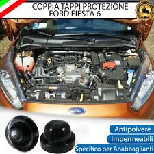 COPPIA TAPPO COPRIFARO CUFFIA IN GOMMA FORD FIESTA MK6 ANABBAGLIANTI LED E XENO