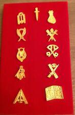 Franc maçonnerie lot des 11 pins d'officiers de loge masonic officer pin's