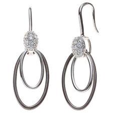 Ovale Ohrschmuck mit Durchzieher Edelsteinen für Damen