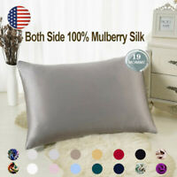100% Pure Mulberry Zipper Silk Pillowcase Silk Pillow Cover Home Bedding