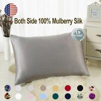 100% Pure Mulberry Zipper Silk Pillowcase Silk pillow cover Home Bedding