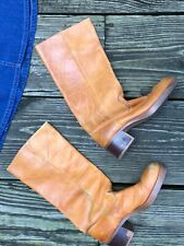 Vintage 1970's Brown Leather Campus Boots 7.5