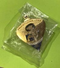Nip Pennsylvania Lions Club Collector Pin back 14-T Tops in Lionism Advertising