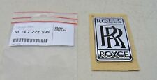 ROLLS-ROYCE GENUINE GHOST / WRAITH EMBLEM BADGE OEM # 51-14-7-222-598