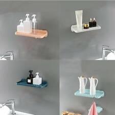 Bathroom Punch-free Plastic Shelf Shower Shampoo Holder Rack Storage Organizer G