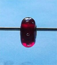 One Genuine TROLLBEADS RED BUBBLES New & Retired Troll Bead
