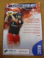 24/07/2008 Cricket Programme: Glamorgan v Surrey & 10/08/2008 Leicestershire & 2
