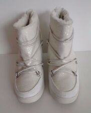 Juicy Couture Womens White Glitter Lace-Up Wedge Ankle Boots Shoes Sz 9 Sale