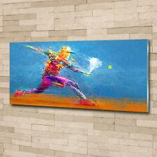 Glas-Bild Wandbilder Druck auf Glas 125x50 Deko Sport Tennisspieler