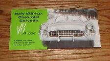1955 Chevrolet Corvette Foldout Sales Brochure 55 Chevy