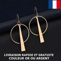 Boucle D'oreille Géométrique Cercle Bohême Mode Bijou Femme Cadeau Anniversaire