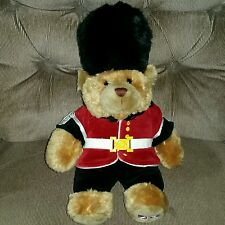 Keel Toys Queens Guard Teddy Bear Brown Soft Toy Plush Black Hat Pants Red Coat