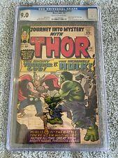 Journey Into Mystery #112 -CGC 9.0 -Thor VS Hulk -Origin of Loki-Silverage 1965
