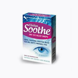 Clinitas Soothe Dry Eye Relief Drops - 20 Individual Droppers