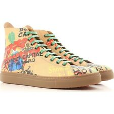 Vivienne westwood Unisex shoes Beige sneakers with multicolor print