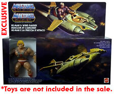 Masters of the Universe HE-MAN WIND RAIDER Gift Set EUROPEAN Unreleased /no toys