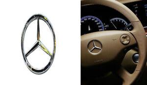 For Mercedes-Benz steering wheel Center logo Silver Emblem Paste 50MM-51MM