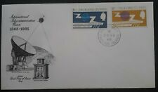 1965 Falkland islands 100th Anniversary of I.T.U. FDC ties 2 stamps Port Stanley