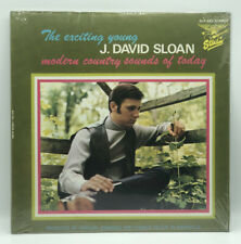 """J. DAVID SLOAN -MODERN COUNTRY SOUNDS OF TODAY- VINTAGE LP - 12"""" FACTORY SEALED."""