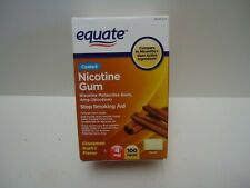 Equate Coated Nicotine Gum Cinnamon Rush Flavor 4 Mg 100 Count Expires 09/2021